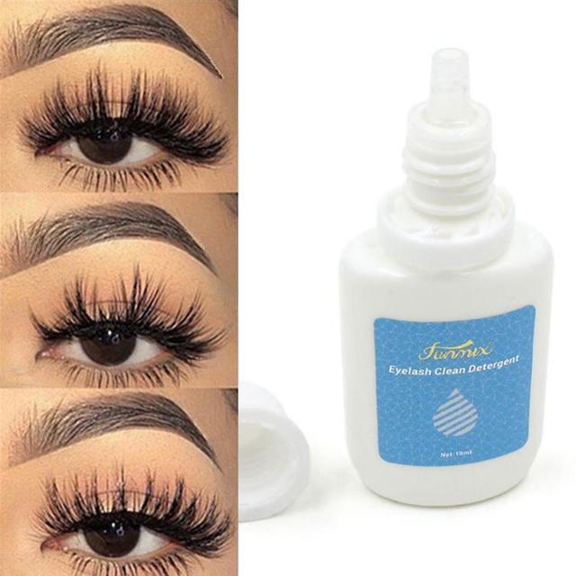 10ML/Bottle Eyelash Cleaner Primer False Eyelash Extension Clean Liquid Eye Lashes Before Planting Eyelash Grafting Cleanser