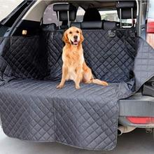 Чехол для сиденья Lanke, на автомобильное сиденье для перевозки собак, водонепроницаемый противогрязный коврик для сиденья багажника, Защитная Подушка гамак для переноски питомцев с ремнем безопасности