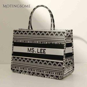 Image 2 - Women Tote Bag Striped High Quality Canvas Shoulder Bag Luxury Shopper Large Bag Bohemian National Style Handbag for Lady 2019