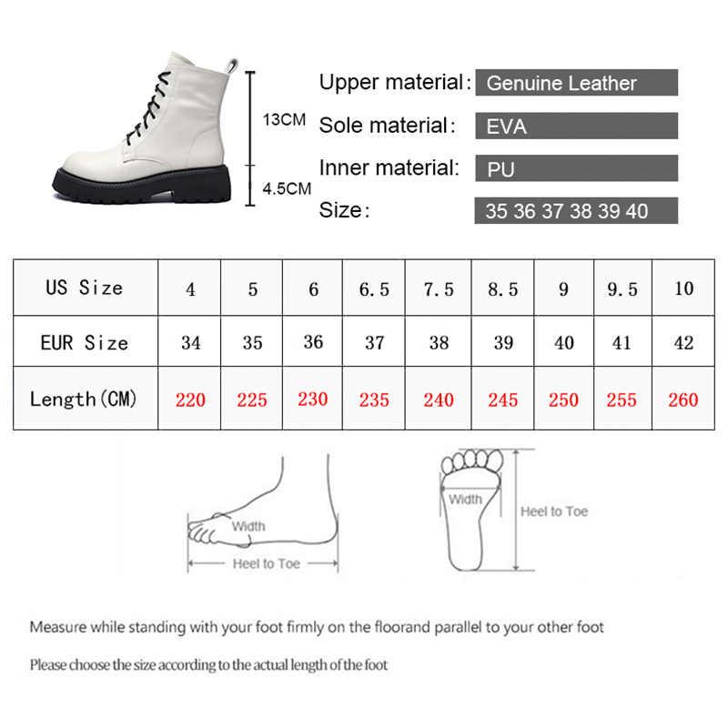 ابتسامة دائرة حذاء من الجلد النساء أحذية منصة جلد طبيعي 2020 موضة جولة تو الدانتيل متابعة السيدات الأحذية قصيرة