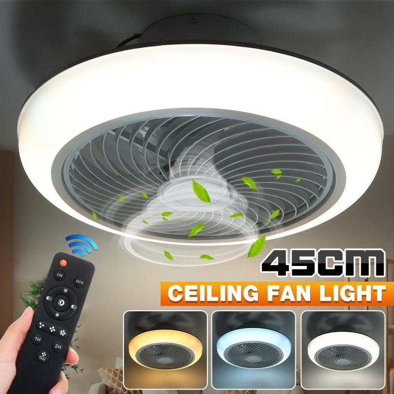 220V 3 Gear Smart Ceiling Fan Fan With Light Remote Control Bedroom Decor Ventilator Lamp 45cm Cooling Hanging Ceiling Fan