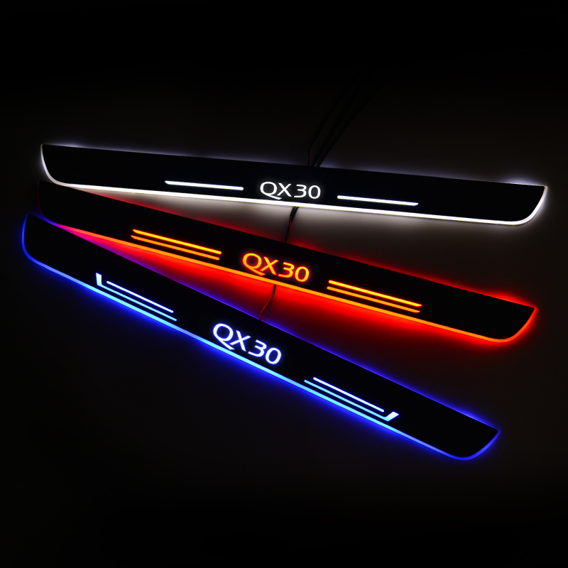LED Door Sill For <font><b>Infiniti</b></font> <font><b>Q30</b></font> 2015 Door Scuff Plate Entry Guard Threshold Welcome Light Car <font><b>Accessories</b></font> image