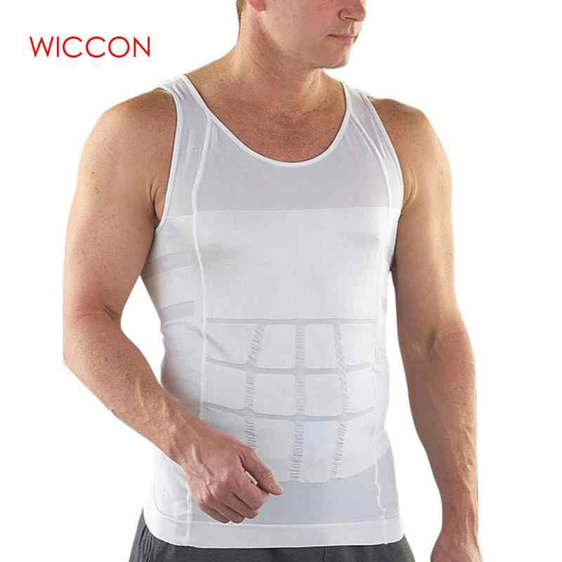 3Pcs/Lot Sale Men Tight Slimming Body Shapewear Vest Shirt Abdomen Slim Tummy Belly Slim Body Shaper Underwear Vest Undershirt