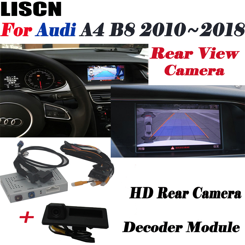car rear camera For Audi A4 B8 B9 2010 2011 2012 2013 2014 2015 2016 2017 2019 Backup camera Interface Adpter screen Improve Kit image