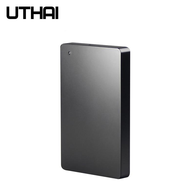 UTHAI G12 USB3.0 Mobile HDD Enclosure Hard Disk Box External Screw Free Design Black Hard Drive Case Mobile HDD Box