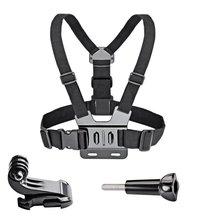 חזה רצועת חגורת הר לקבלת Gopro hero 7 6 5 4 3 + 3 xiaomi יי 4 k פעולה מצלמה חזה לרתום עבור SJCAM SJ4000 ספורט מצלמת לתקן