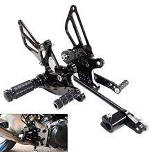 Rearset ajustável apoio para os pés pé pegs pedal para honda cbr 929 954 rr fireblade cbr929rr sc44 2000 2001 cbr954rr sc50 2002 2003