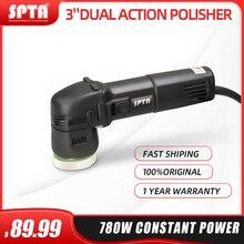 SPTA 3 zoll Mini Auto Polierer 780W/10mm Dual Action Polierer DA Auto Polierer Auto Polierer Maschine mit Schwamm Polieren Pads Set