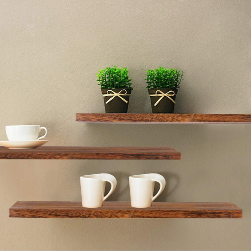 Wall Mounted Rustic Floating Shelves Wall Display Rack Decor Floating Shelves For Home Wooden Storage