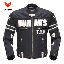 DUHAN Motorcycle Jackets Men Summer Guard Protection Racing Jacket Motocross Breathable Riding Jacket Professional Protector duhan men s oxford cloth riding motocycle racing jacket coat with cotton liner motocross windproof clothing five protector gear