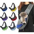 Удобная сумка-переноска для собак  кошек  щенков  уличные сумки  сетка  Оксфорд  одно плечо  сумка  слинг  передняя сетка  дорожная сумка  сумк...