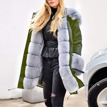 Womens Fleece Winter Jacket Hooded Down Coat Fishtail Warm Long Sleeves Overcoat Fur cap Cotton Padded medium-long Parkas cheap Solid sssss 800 0 Casual Pockets Adjustable Waist Belt White duck down Full Polyester Thick (Winter) Broadcloth NONE 100g