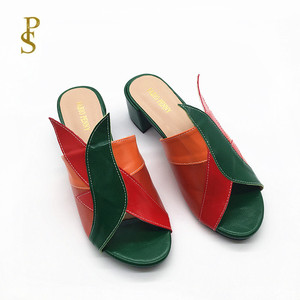 Image 3 - Mixed color PU shoes for women Fashionable and colorful female slippers for ladies
