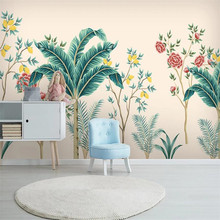 Large 3D wallpaper mural custom Nordic hand-painted plants flowers and birds bedroom background wallpaper mural 3d wallpaper artistic osmanthus tree hd hand painted flowers and birds wallpaper murals home decoration custom photo wallpaper