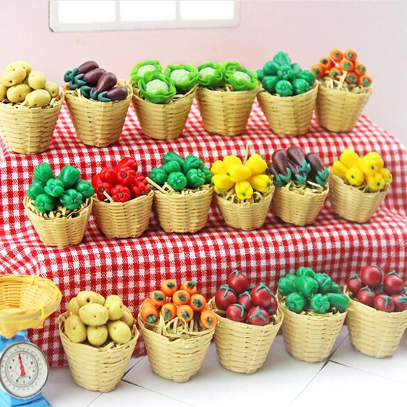 SUPVOX Mini House Toys Dollhouse Miniature Cucumbers Simulation Vegetables Fruits for Chidren Kids Girls Boys 10Pcs
