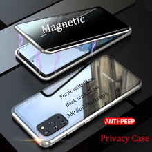 Privacy Case for Samsung Galaxy S20 Ultra Magnetic Tempered Glass Case for Samsung Note 10 S10 S20 Plus S10E Anti peep Cover