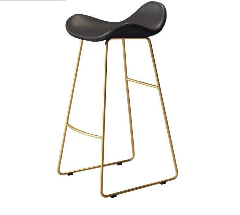Modern Simple Bar Chair Northern Europe High Stool Domestic Bar Stool High Foot Net Red Bar Stool Front Desk Chair Bar Chair