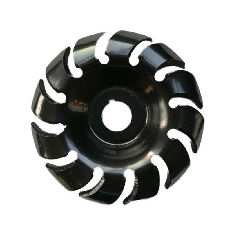 1PC 90mm Manganese Steel 12 Teeth Wood Carving Disc 22mm Bore Grinder Wood Shaping Disc For 125 Angle Grinder Woodworking Tool