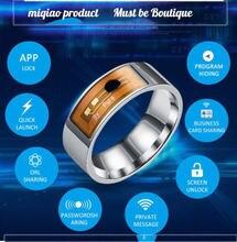 Nfc умное кольцо многофункциональное водонепроницаемое с пальцами