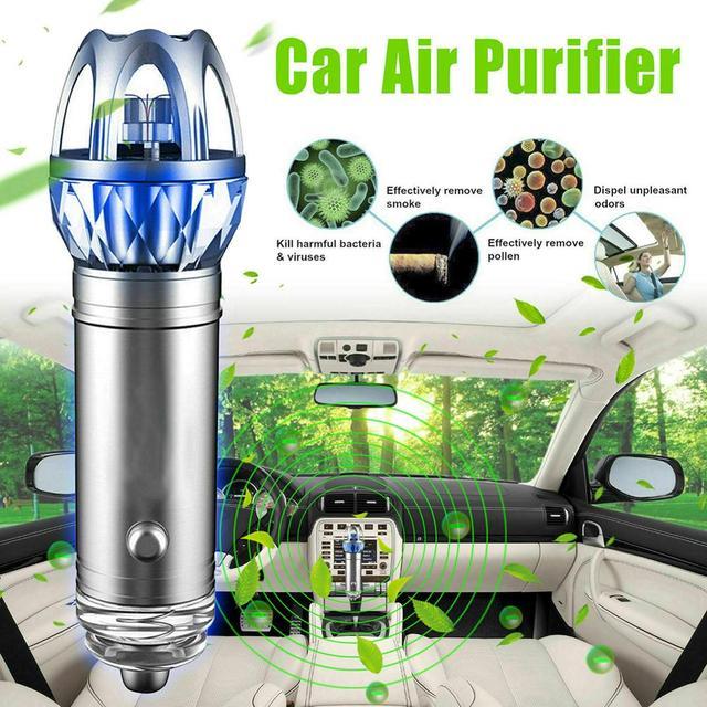 Purificador de ar do carro 12v auto carro purificador de ar fresco iônico barra oxigênio ozônio ionizador mais limpo carro ambientador accessries