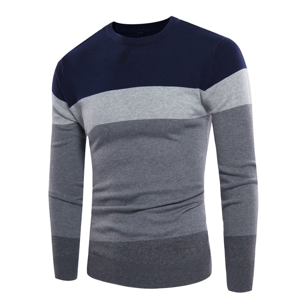 Fashionable Design Casual Men's Sweater Autumn Winter New Wool Male Pullovers Top Quality Striped Men Slim Fit Knitting Clothing