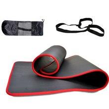 Коврики для йоги 10 мм, сверхтолстые Нескользящие Коврики для фитнеса, пилатеса, спортзала, коврики для упражнений, 183cmX61cm NRB