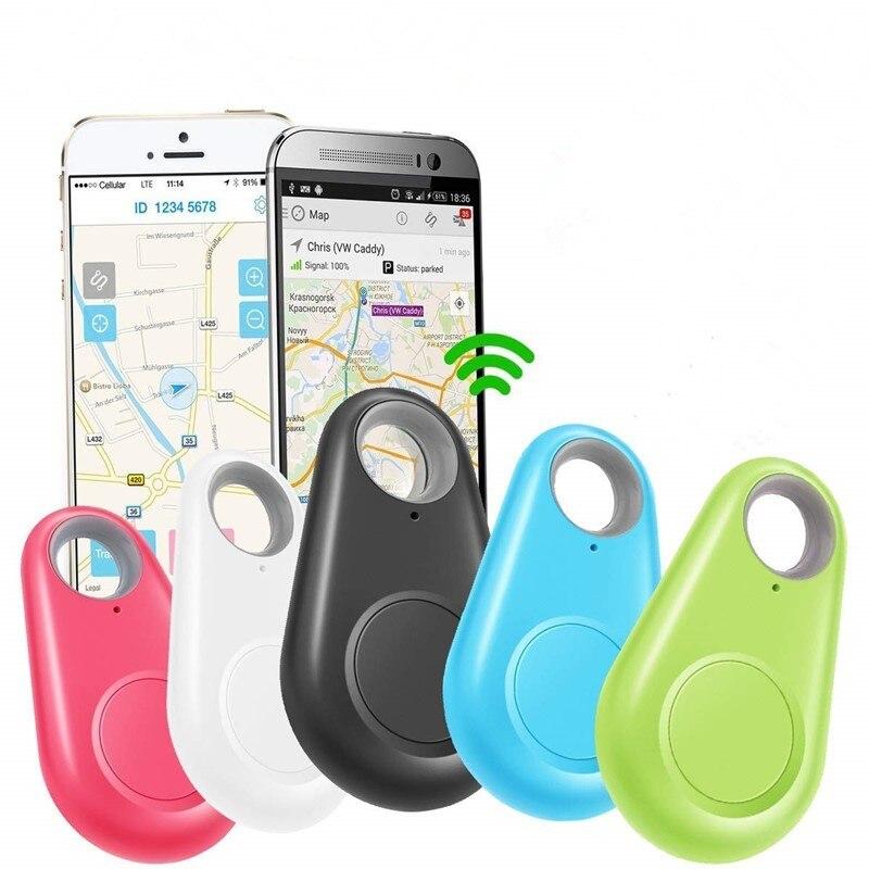 Умные животные GPS трекер анти-потерянный сигнал тревоги бирка Беспроводной Bluetooth обнаружитель Детской Сумки кошелек телефон Key Finder локатор ...