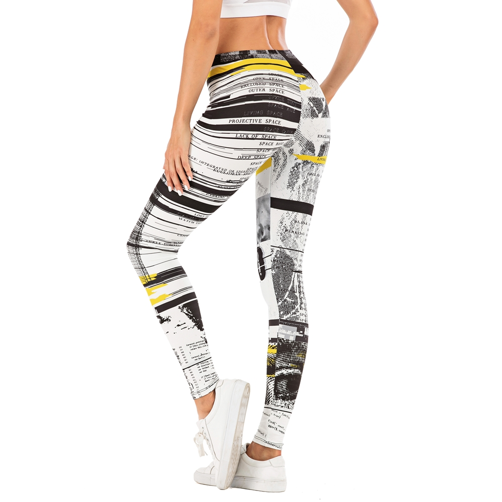 Fashion Woman Pants Sexy Women Legging Stitching Streak Printing Fitness Leggins Slim Legins Soft And Stretchy Leggings
