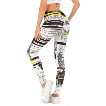 Fashion Woman Pants Sexy Women Legging Stitching Streak Printing Fitness Leggins Slim Legins Soft And Stretchy Leggings