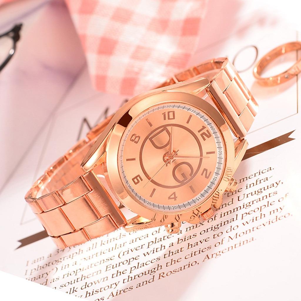 Fashion Women Female Quartz Watch Luxury Business Dial Steel Belt Watches Ladies Causal Dress Wrist Watch Thanksgiving Gift