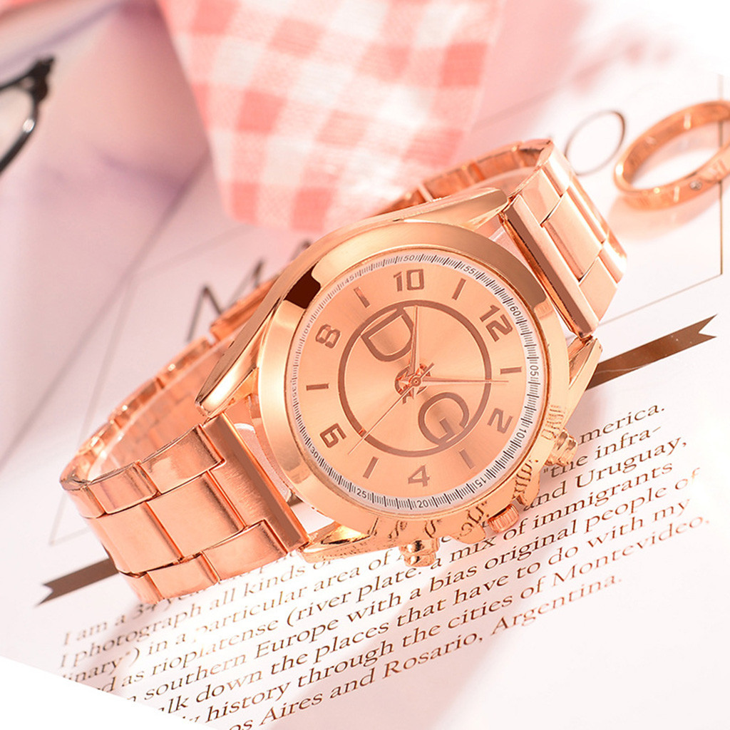 Модные женские кварцевые часы, роскошные бизнес часы со стальным ремешком, женские повседневные наручные часы, подарок на День Благодарени...