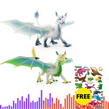 Simulation Magic Dragon Dinosaurs Colorful Animal PVC Action Figure Toy Doll Model Decoration Kid Gift Ancient Dragon Toys