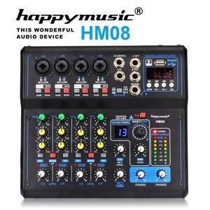 Image 4 - 전문 믹서 HM 시리즈 6 채널 8 채널 USB 사운드 카드 16 DSP 사운드 콘솔 장비 DJ 믹서 USB 사운드 카드