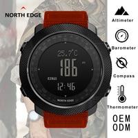 Sport Watches Compass North Edge Nylon Strap Bracelet Alarm Clock Altimeter Barometer Waterproof Watches For Men Digital Watch