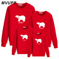 papa mama baby bear matching clothes for daddy mommy and me mother daughter father son outfits mum girl mama boy sweatshirt 2019