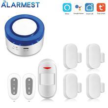 ALARMEST Smart Home Security Wifi Alarm Siren Kits Life APP Wireless Remote Control Works with Alexa