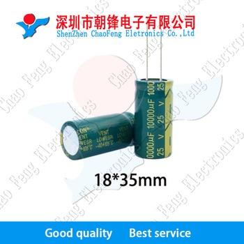 20pcs/lot 25v 10000uf 18*35 Aluminum electrolytic capacitor 18*35mm фото