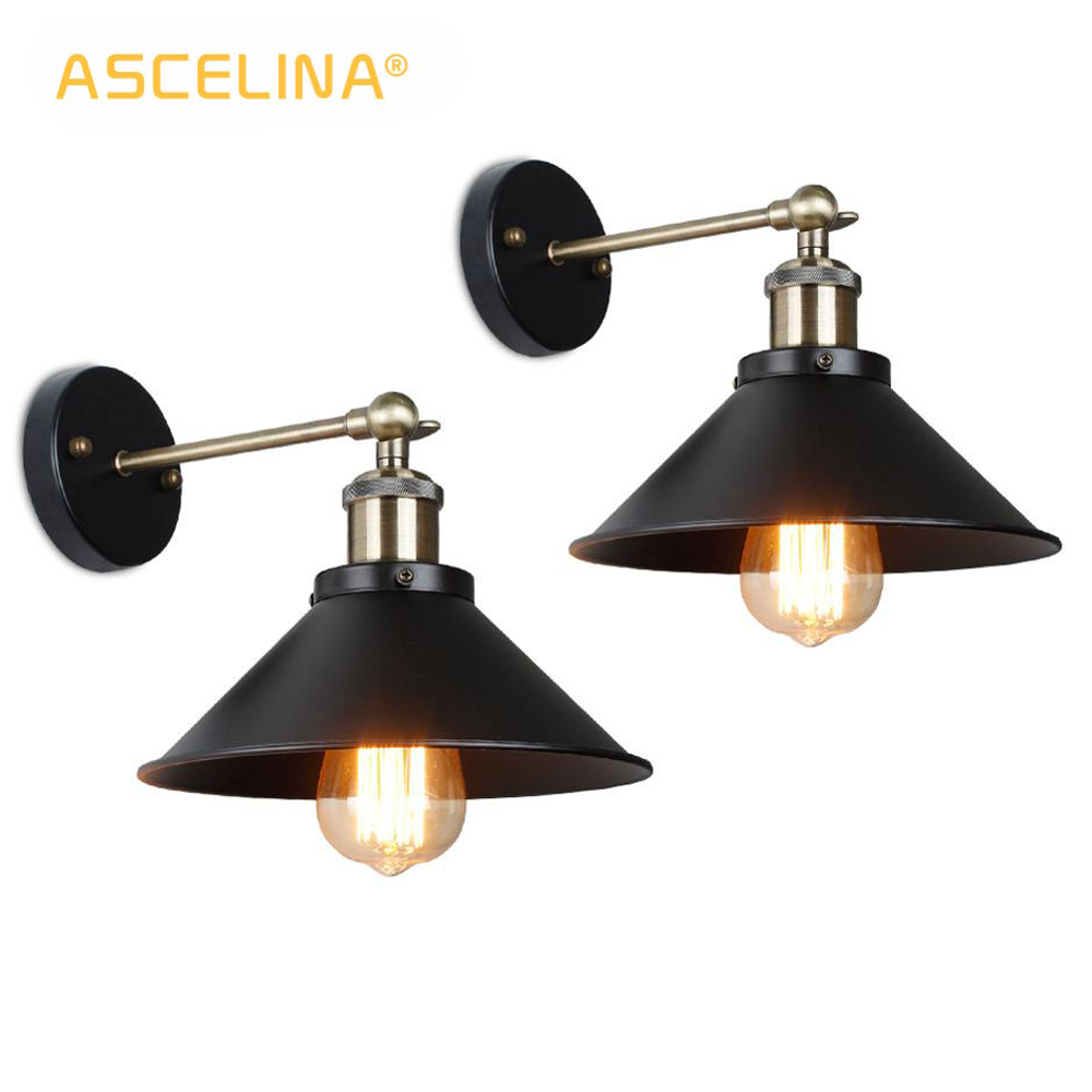 2 Pieces Wall Lamp Vintage wall light bedroom living room wall sconces American style antique lighting fixtures for home & store|LED Indoor Wall Lamps| |  - title=