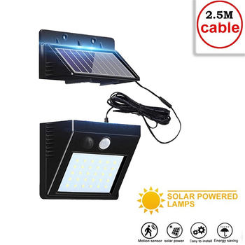 30 LEDs Solar Lamp Garden Motion Sensor Light Solar Panel Power Lights Outdoor Waterproof Separate Street Path Security Wall Lam big promotion 15 led solar power panel sensor wall street light waterproof outdoor garden path spotlight decoration lamp