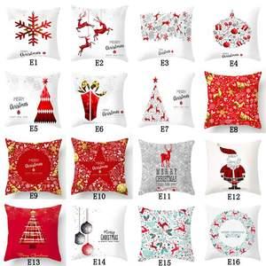 Christmas sofa cushion decorat