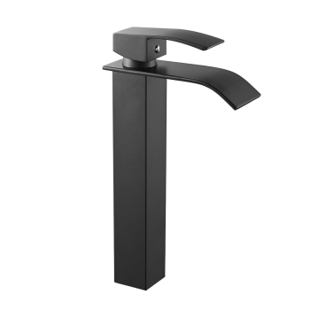Bathroom Basin Faucet Deck Mount Waterfall Bathroom Faucet Vanity Vessel Sinks Mixer Tap Single Handle Cold And Hot Water Tap 8