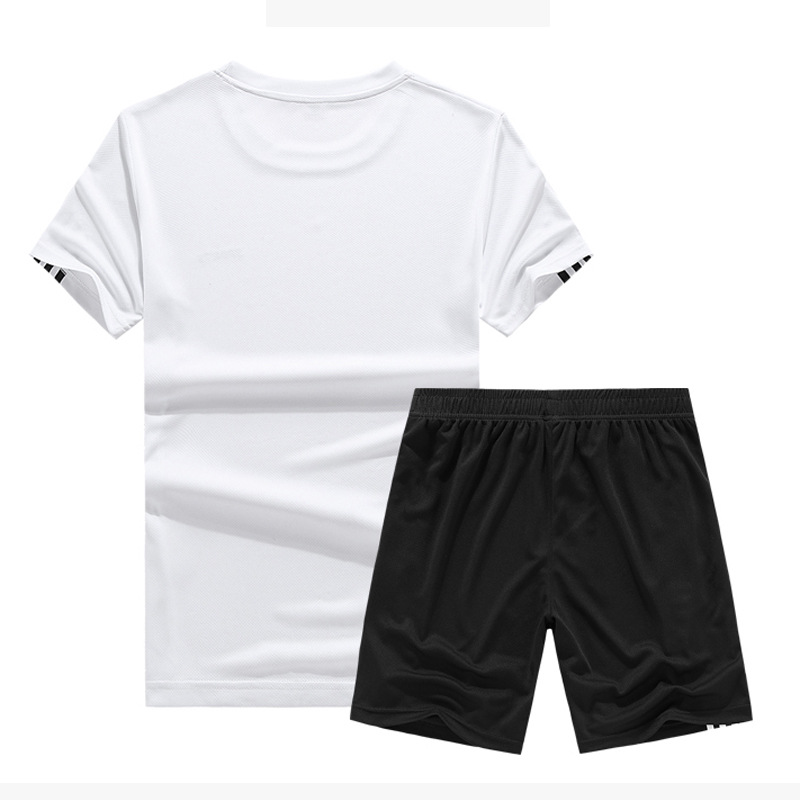 MEN'S Sport Suit 2019 Summer Thin Section Casual Breathable Sports Clothing Short Sleeve Shorts Indoors And Outdoors Sportswear