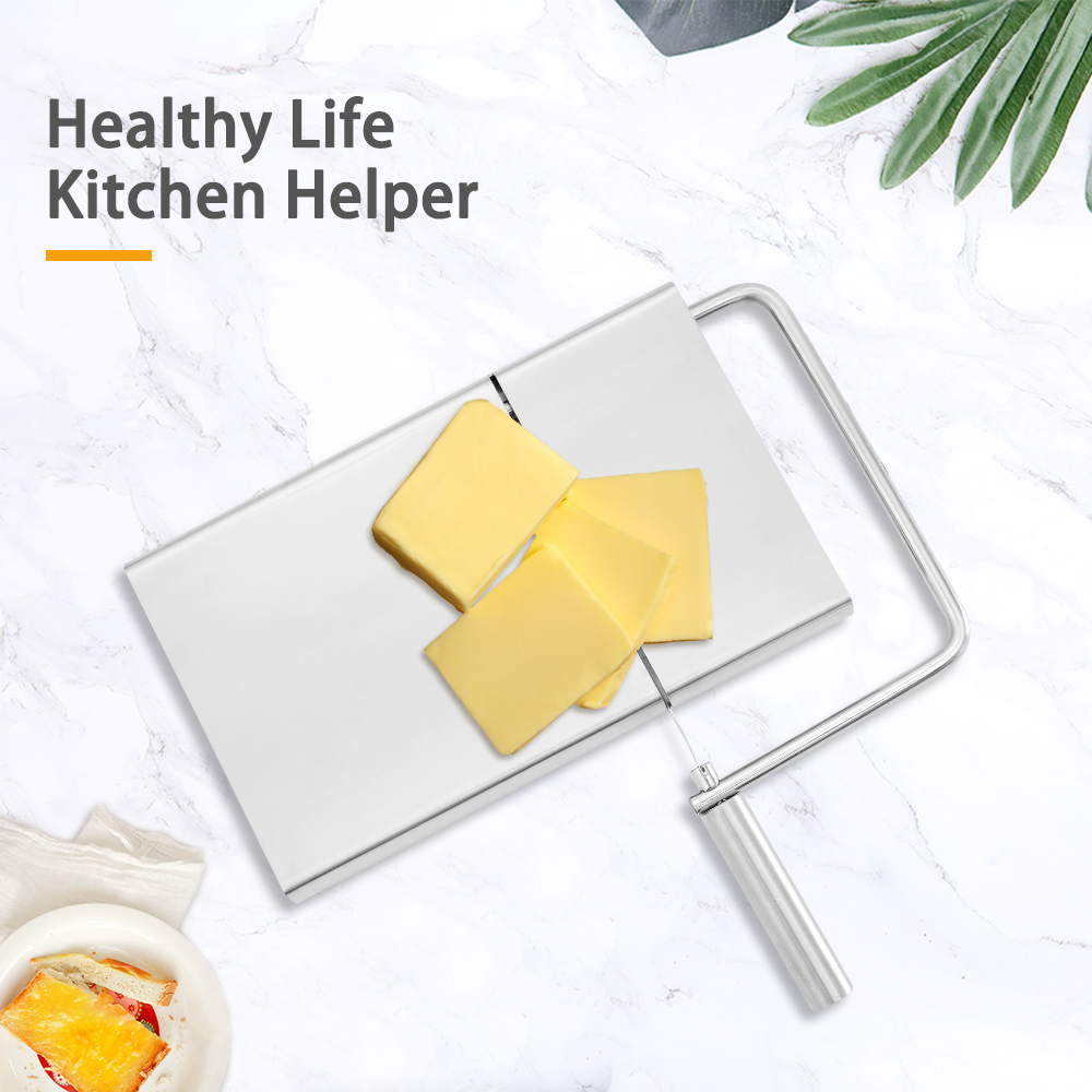 <font><b>Cheese</b></font> Butter <font><b>Slicer</b></font> Cutter Board Cutting Kitchen Hand Tool <font><b>Stainless</b></font> <font><b>Steel</b></font> <font><b>Wire</b></font> <font><b>Cheese</b></font> <font><b>Slicer</b></font> Cutting <font><b>Cheese</b></font> Serving Board image