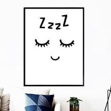 Черно белая картина с изображением глаз лица сна цитаты настенная