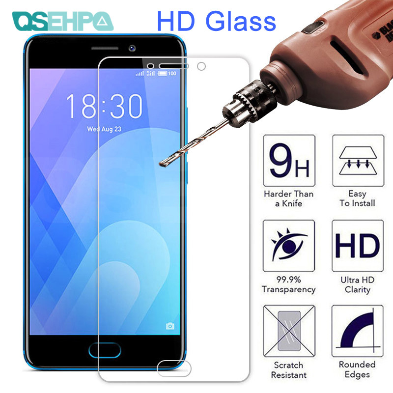 9H Protective Glass On The For Meizu M8 Lite M6 M5 Note M6S M6T M5S M5C C9 Pro Safety Tempered Screen Protector Glass Film Case