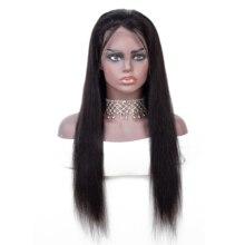 Mifil人毛かつらのremy毛レースフロントかつら13 × 4レース事前摘み取らグルーレスナチュラルヘアラインストレートヘアかつら150密度