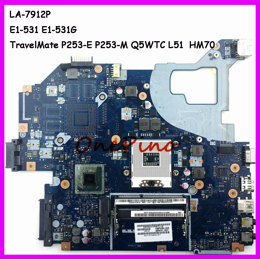 NBC1F11001 LA-7912P Fit For Acer Aspire E1-531 E1-531G Laptop Motherboard TravelMate P253-E P253-M Motherboard Q5WTC L51 Tested