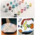 Набор из 6 цветов, керамический пигмент, искусство, подглазурь, Цзиндэчжэнь, керамическая роспись, пигмент средней температуры, цвет для вып...