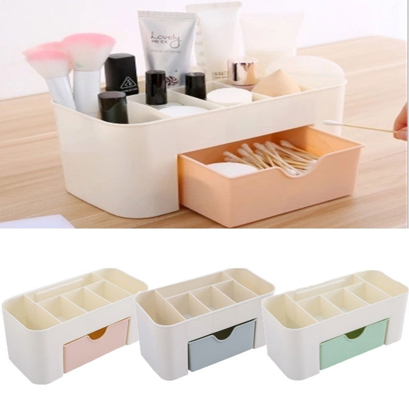 1Pcs Plastic  Professional Make Up Organizer Storage Boxes Cosmetics Container Holder Jewelry Sundries Box Home