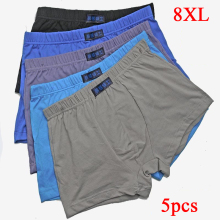 5pcs/lot Male Panties Cotton Men's Underwear Boxers Breathable Man Boxer Solid Underpants Comfortable Brand Shorts Plus Size 8XL
